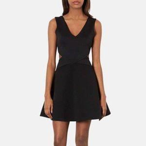 Topshop Black Cut Out Flare Slater Dress